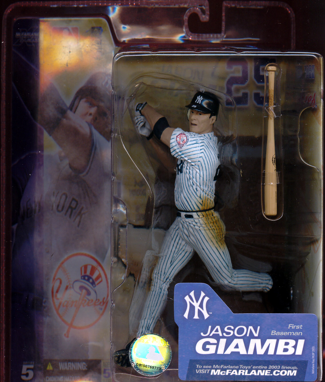 Jason Giambi (series 5, pinstripes with 100th Anniversary patch)