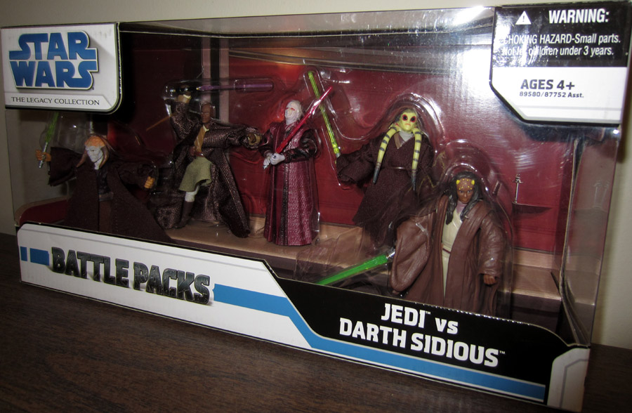 Jedi vs. Darth Sidious 5-Pack Battle Pack (The Legacy Collection)