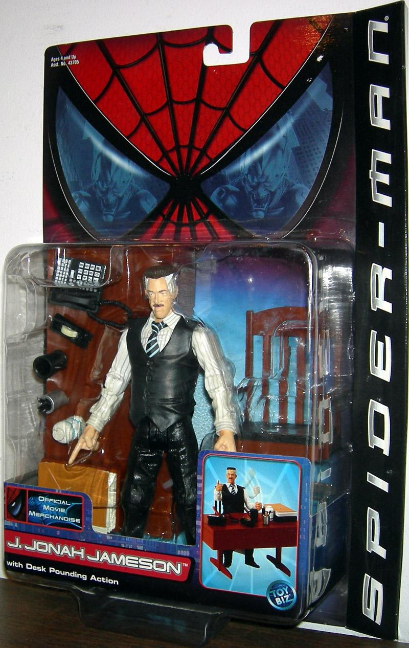 j jonah jameson action figure spider-man movie toy biz