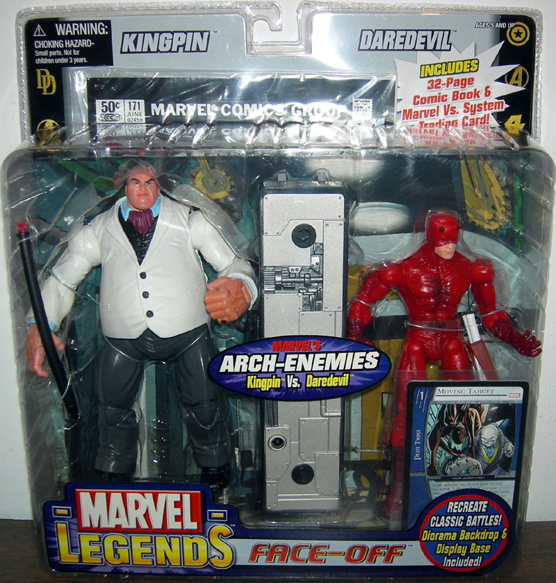Kingpin Vs Daredevil Figures Marvel Legends Toy Biz