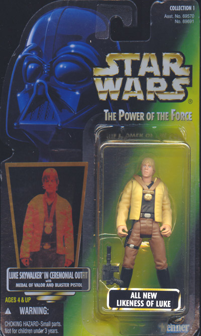Luke Skywalker in Ceremonial Outfit (green card)