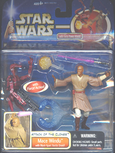 Mace Windu (deluxe with red Battle Droid)