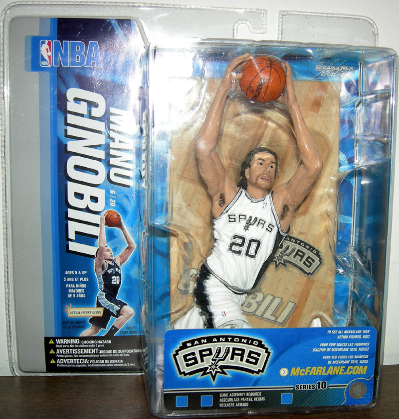Manu Ginobili (series 10, white uniform)