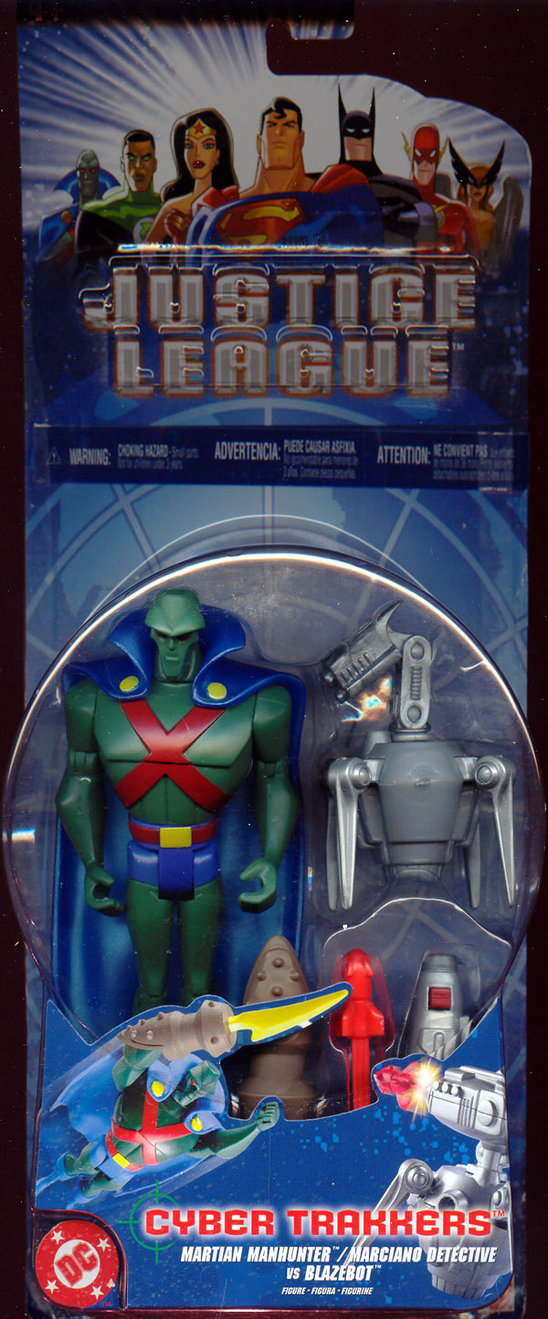 Martian Manhunter vs. Blazebot (Cyber Trakkers)