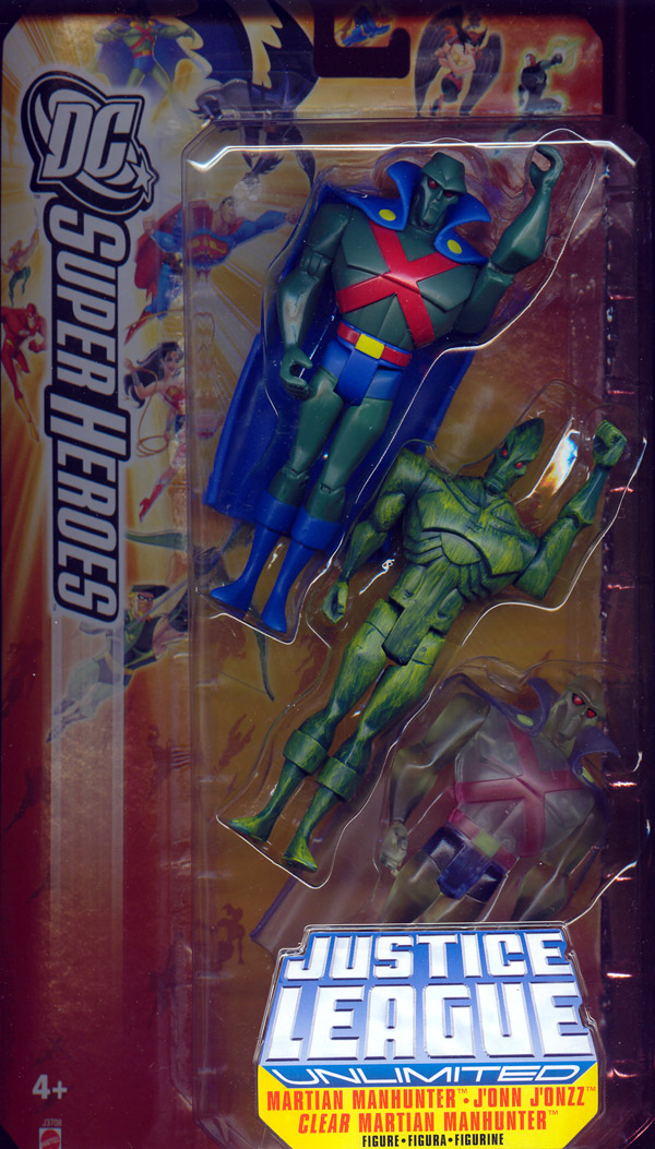 Martian Manhunter, Jonn Jonzz & Clear Martian Manhunter 3-Pack (DC SuperHeroes)