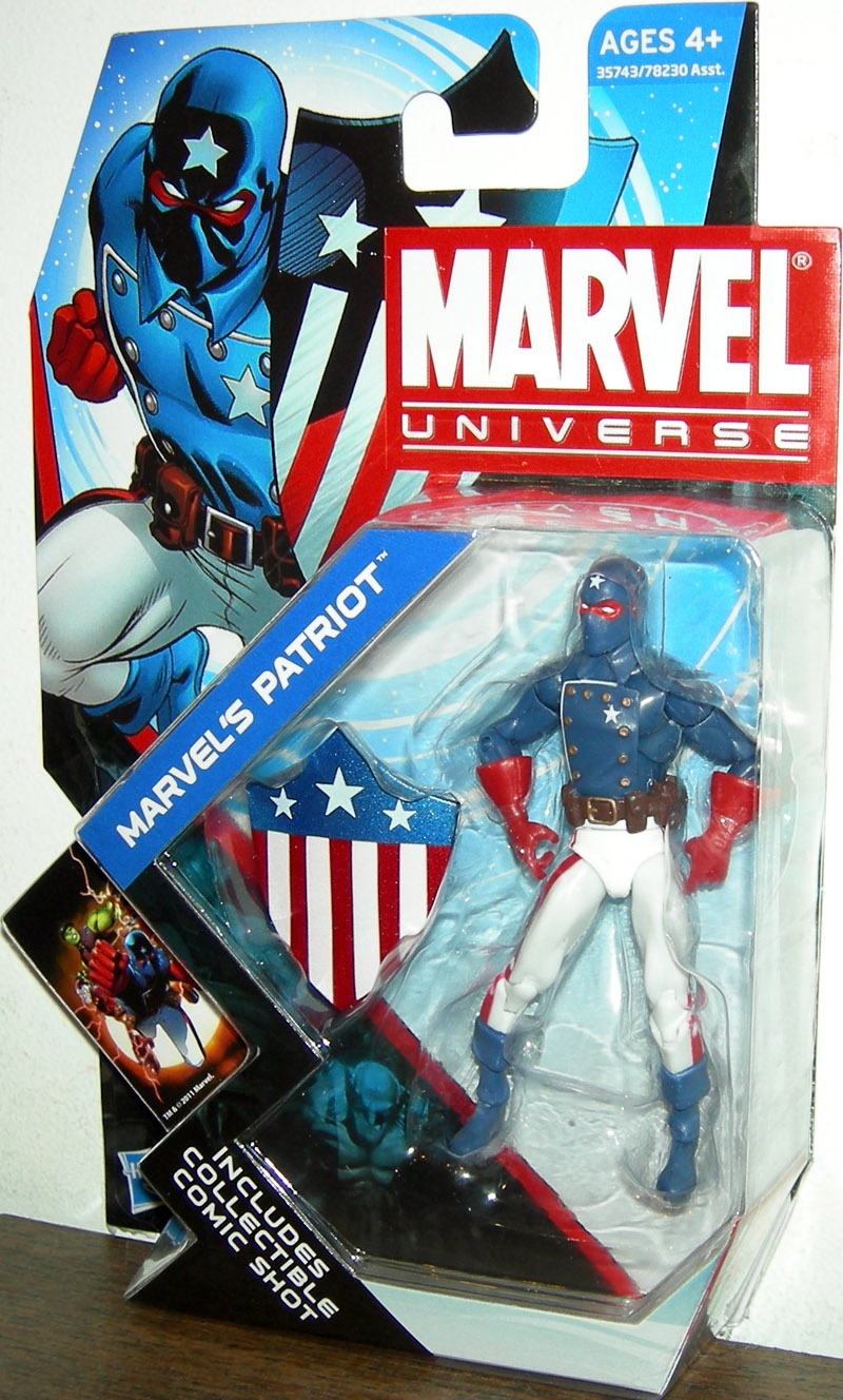 Marvels Patriot Figure Marvel Universe Series 4 002 Hasbro