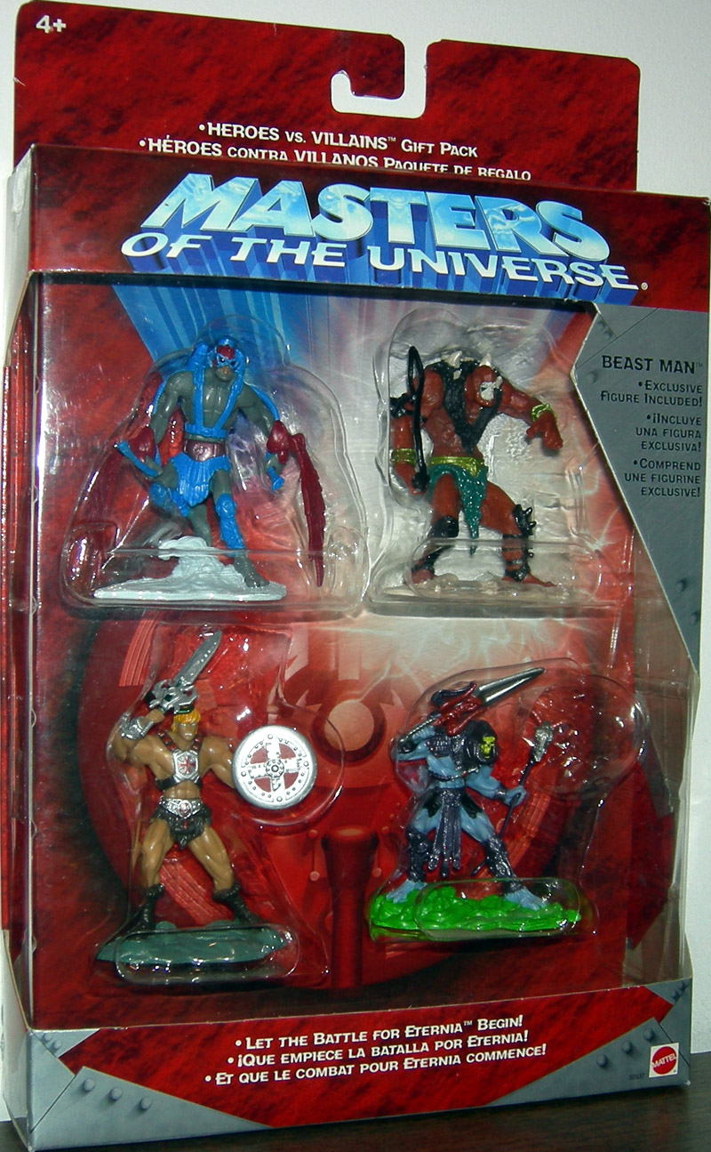 Masters Universe Heroes vs Villains Gift Pack (w/ Exclusive Beast Man)
