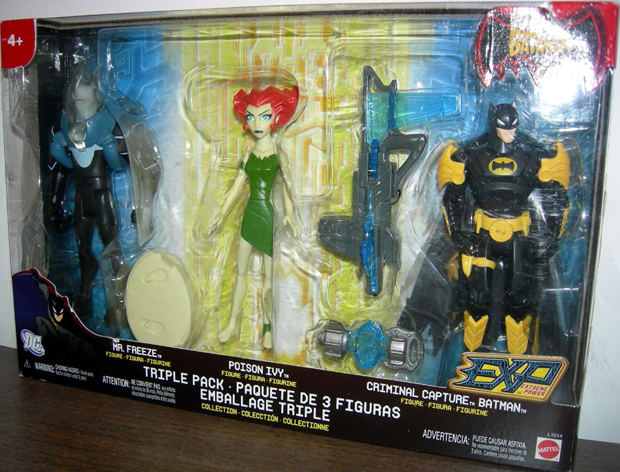 Mr. Freeze, Poison Ivy and Criminal Capture Batman Triple Pack (EXP)
