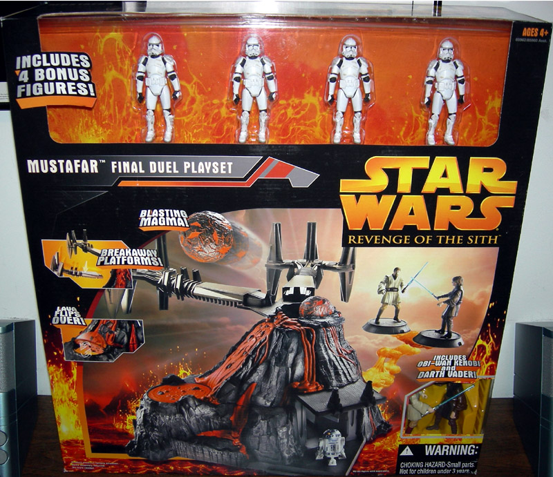 Mustafar Final Duel Playset (with 4 Bonus Clone Troopers)