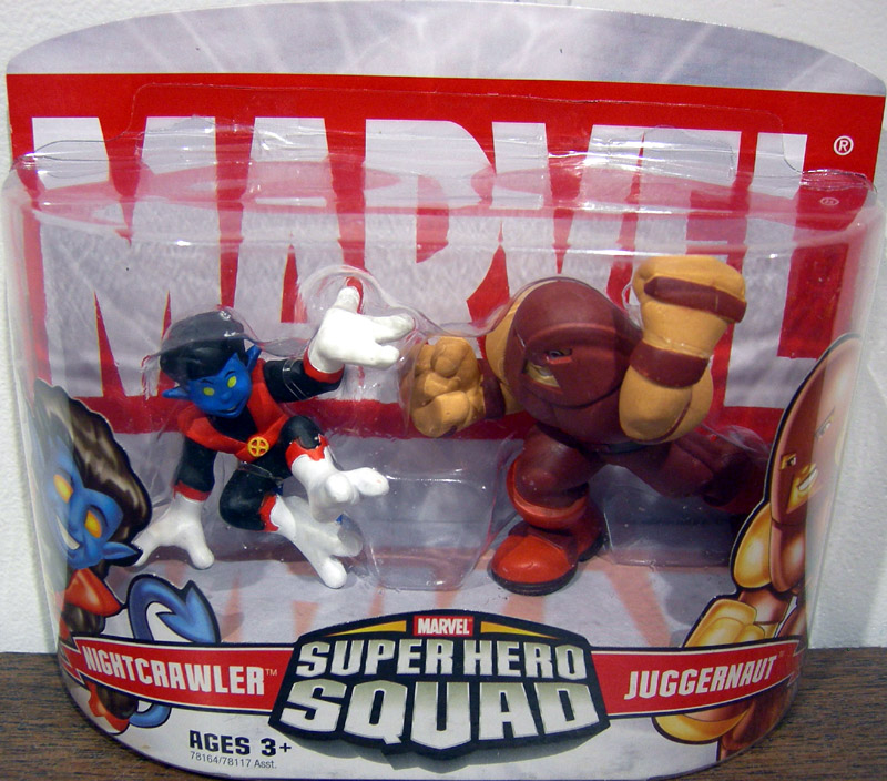 Nightcrawler & Juggernaut (Super Hero Squad)
