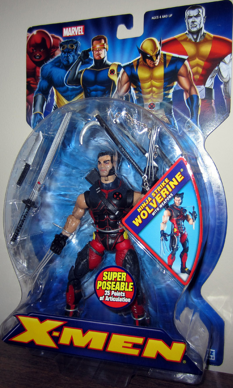 Ninja Strike Wolverine with Weapons (X-Men)
