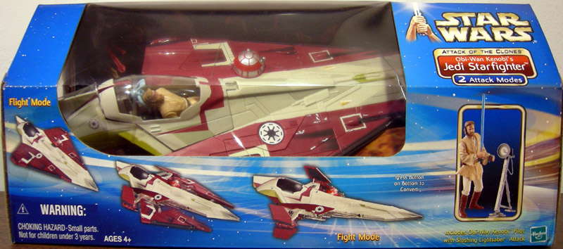 Obi-Wan Kenobi's Jedi Starfighter (Attack of the Clones, with figure)