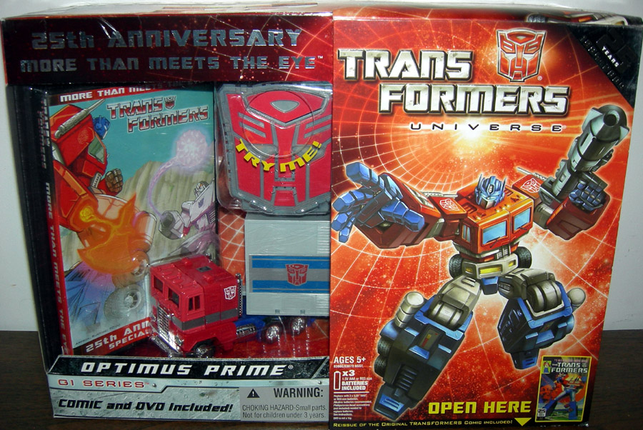 Transformers Universe G1 Series 25th Anniversary Optimus Prime & DVD