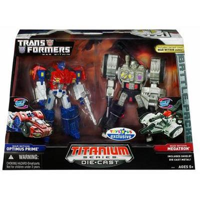 Optimus Prime vs. Megatron (War Within Titanium Die-Cast)