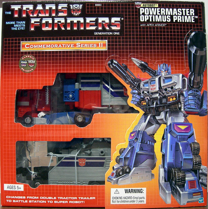 Powermaster Optimus Prime (Commemorative Series II with Apex Armor)