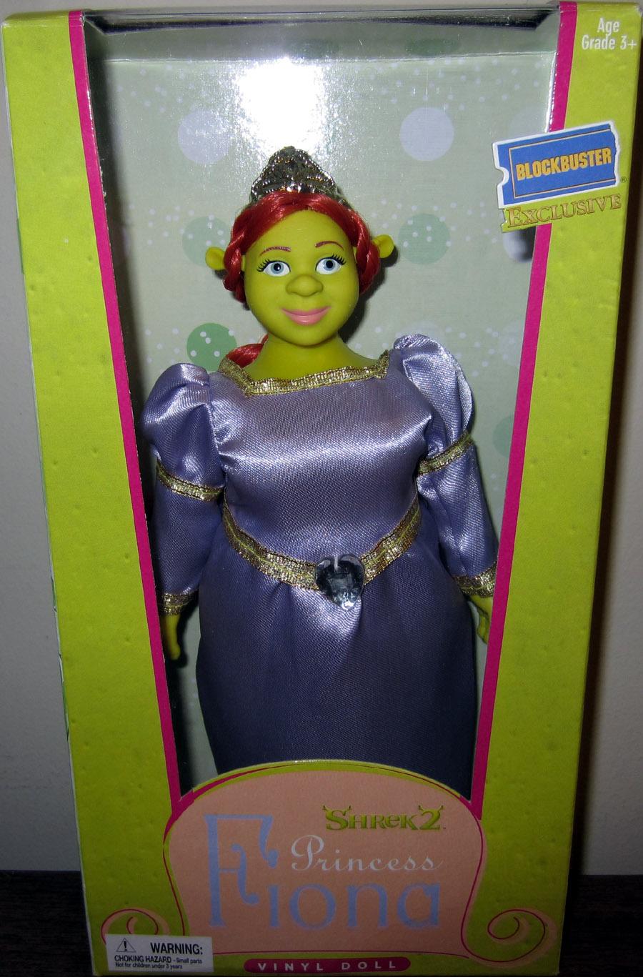 8 Inch Princess Fiona Vinyl Doll Shrek 2 Blockbuster Exclusive