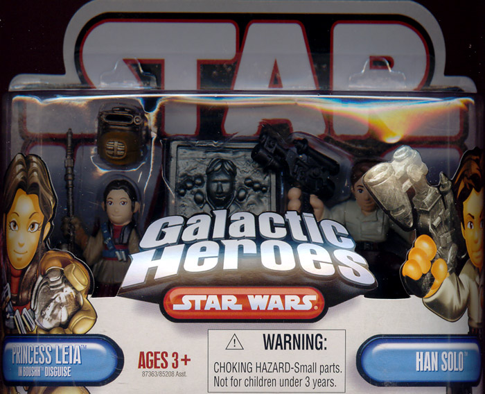 Princess Leia in Boushh disguise & Han Solo (Galactic Heroes)