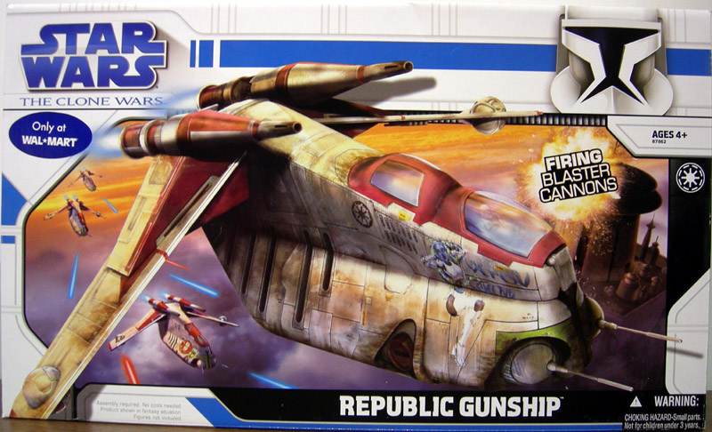 Republic Gunship (The Clone Wars, Wal-Mart Exclusive)