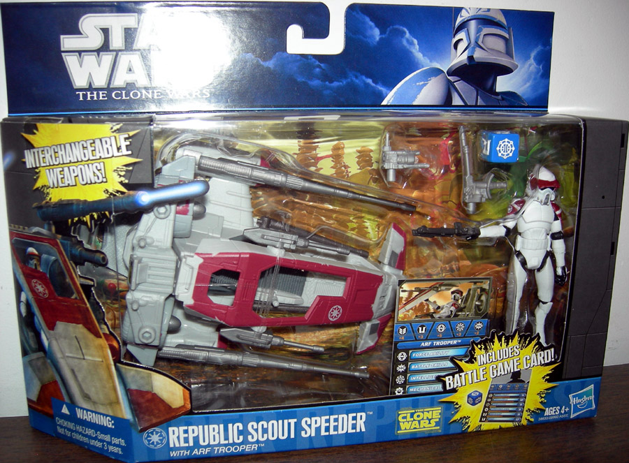 Republic Scout Speeder with ARF Trooper (The Clone Wars)