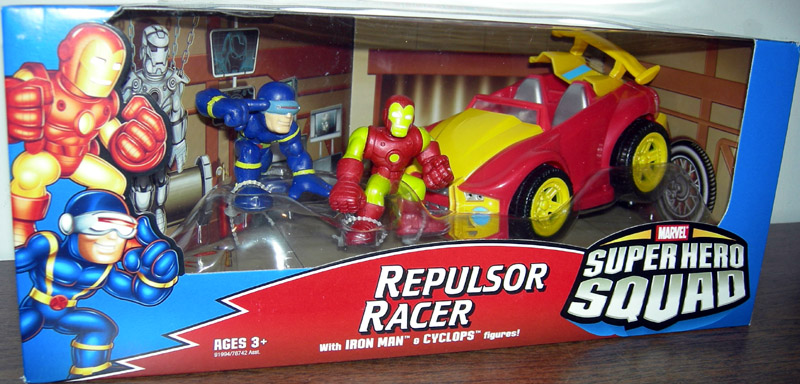 Repulsor Racer with Iron Man & Cyclops (Super Hero Squad)