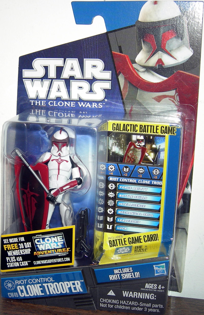 Star Wars The Clone Wars Toys : Riot control clone trooper cw star wars action figure