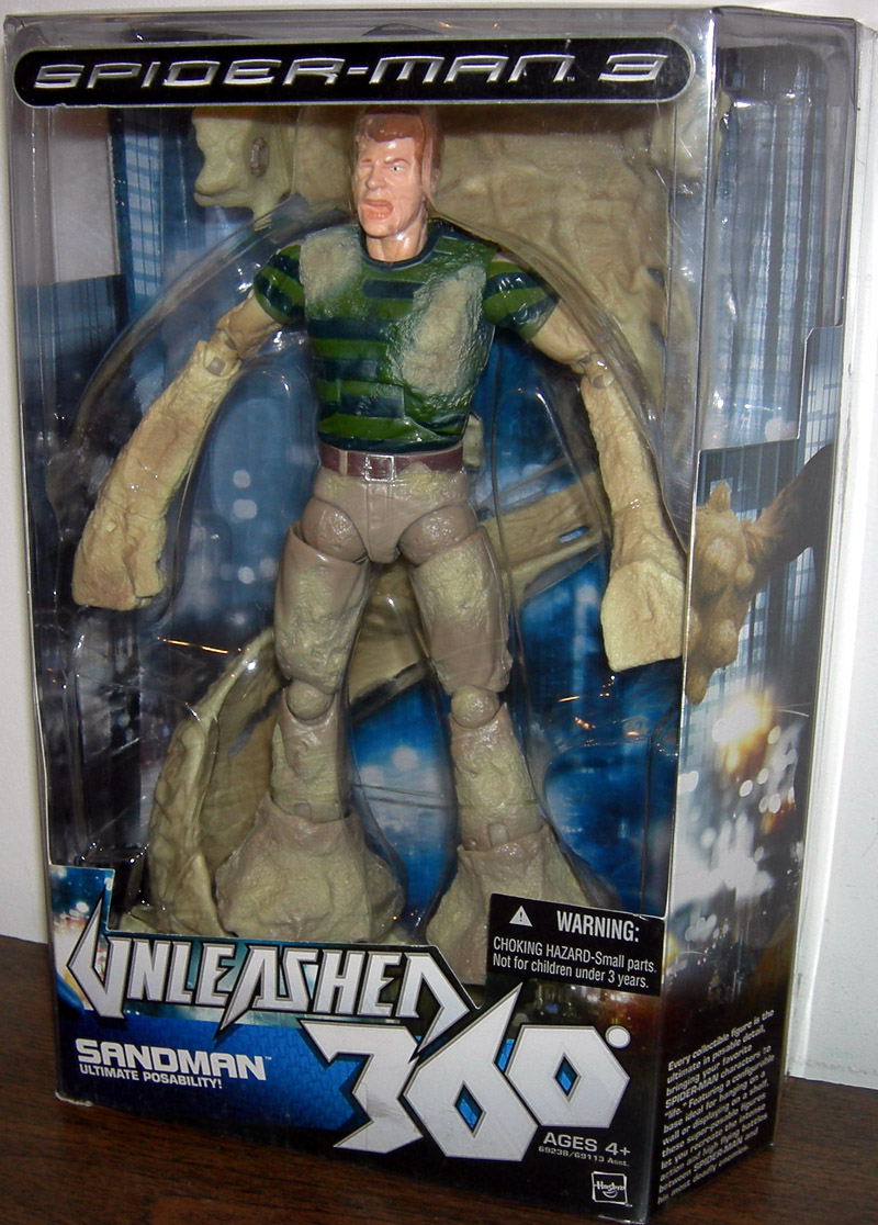8 Inch Tall Sandman Action Figure Spider-Man 3 Unleashed 360