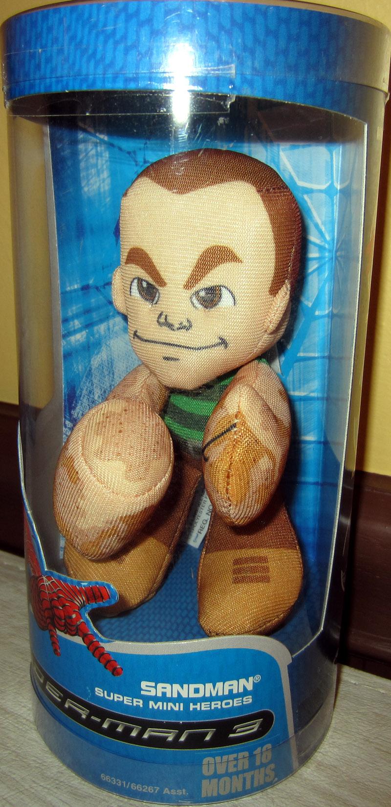 Sandman Super Mini Hero Plush Spider-Man 3 Hasbro