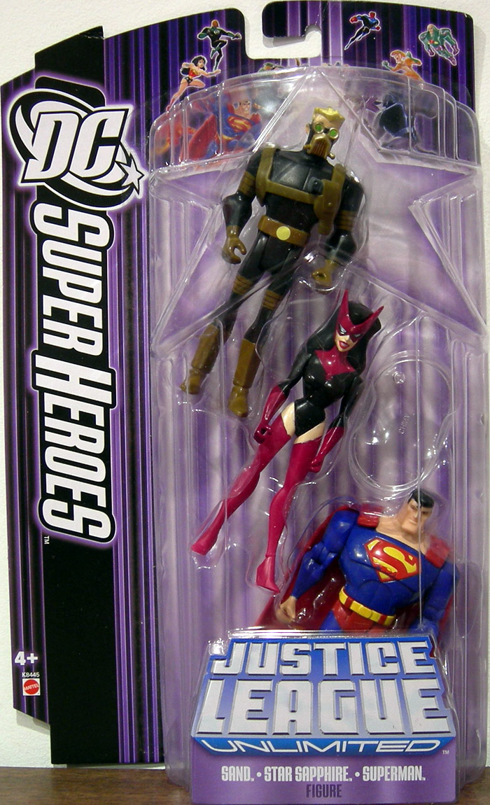 Sand, Star Sapphire and Superman, DC SuperHeroes JLU