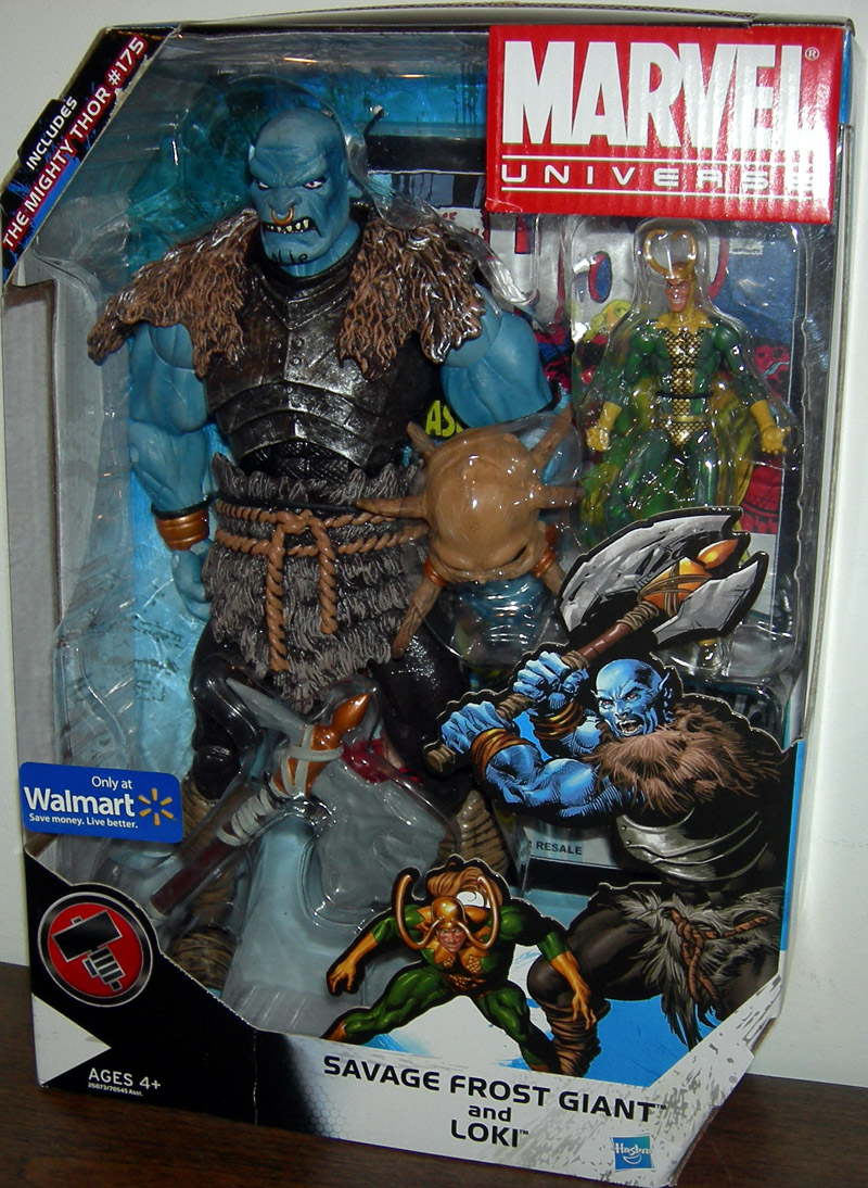Savage Frost Giant and Loki (Marvel Universe, Walmart Exclusive)