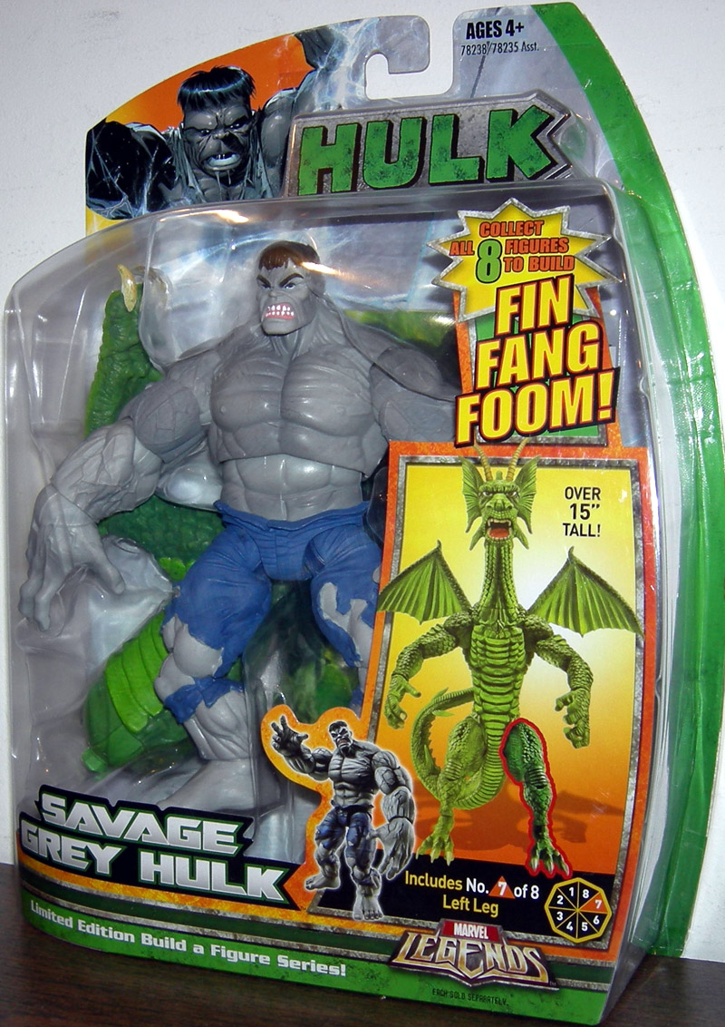 Savage Grey Hulk (Marvel Legends Fin Fang Foom series)