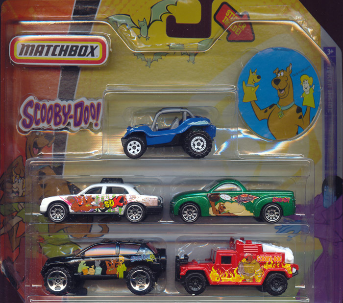 Scooby-Doo Matchbox 5-Pack (with Scooby hand puppets sticker)