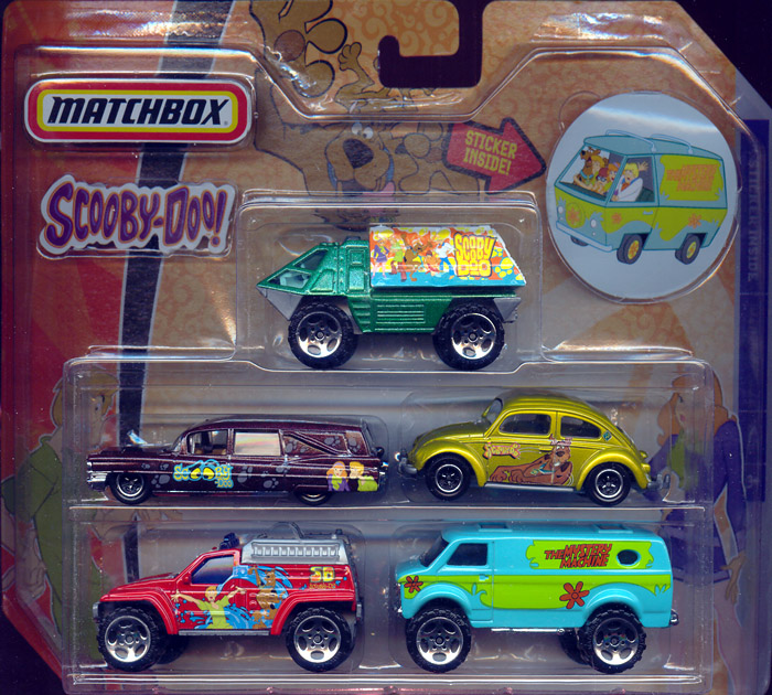 Scooby-Doo Matchbox 5-Pack (with Mystery Machine sticker)