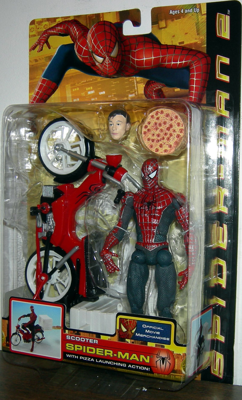 Toys For Gentleman : Scooter spider man action figure movie pizza launching
