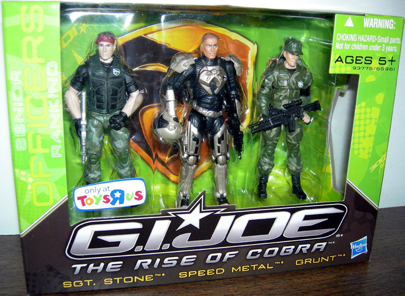 Senior Ranking G.I. Joe Officers 3-Pack (The Rise of Cobra)