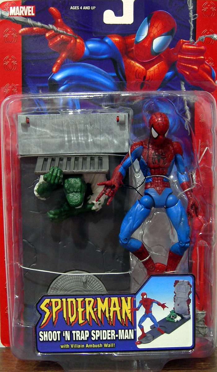 shoot n trap spiderman classic action figure