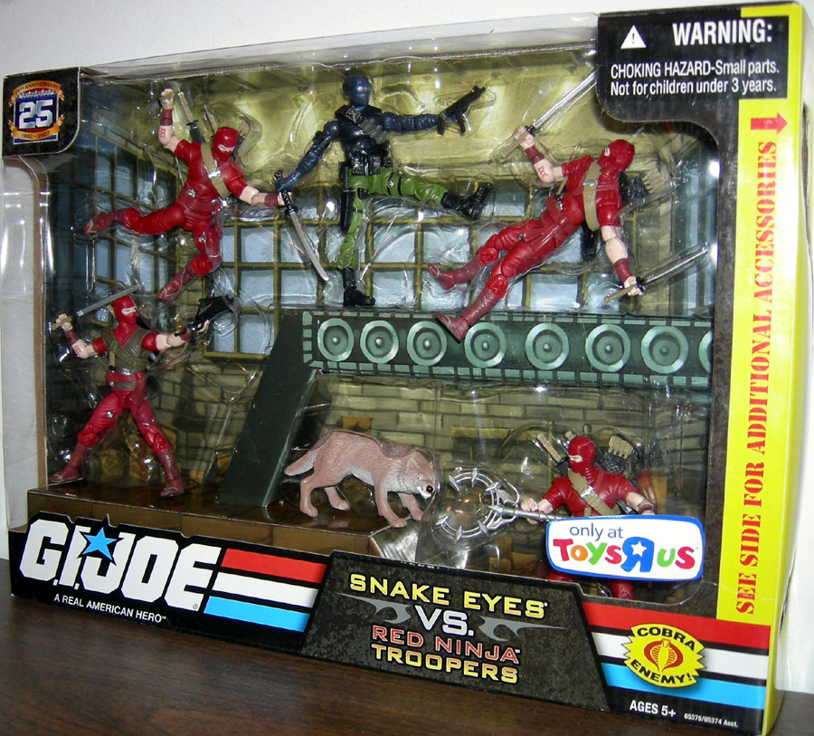 Snake Eyes vs. Red Ninja Troopers 6-Pack (25th Anniversary)