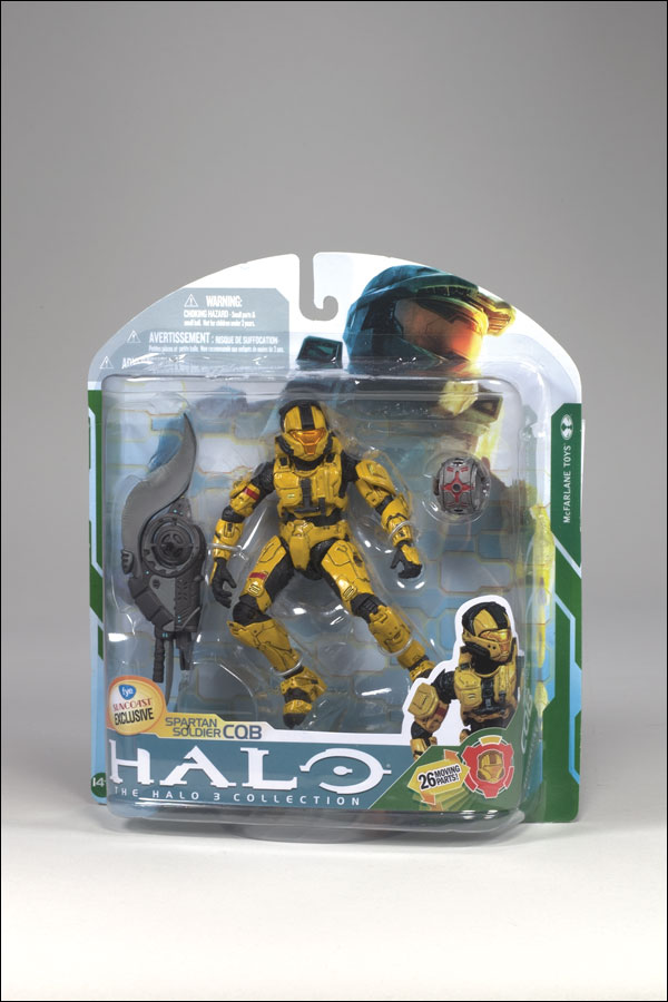 Spartan Soldier CQB (Halo 3, gold, FYE Suncoast Exclusive)