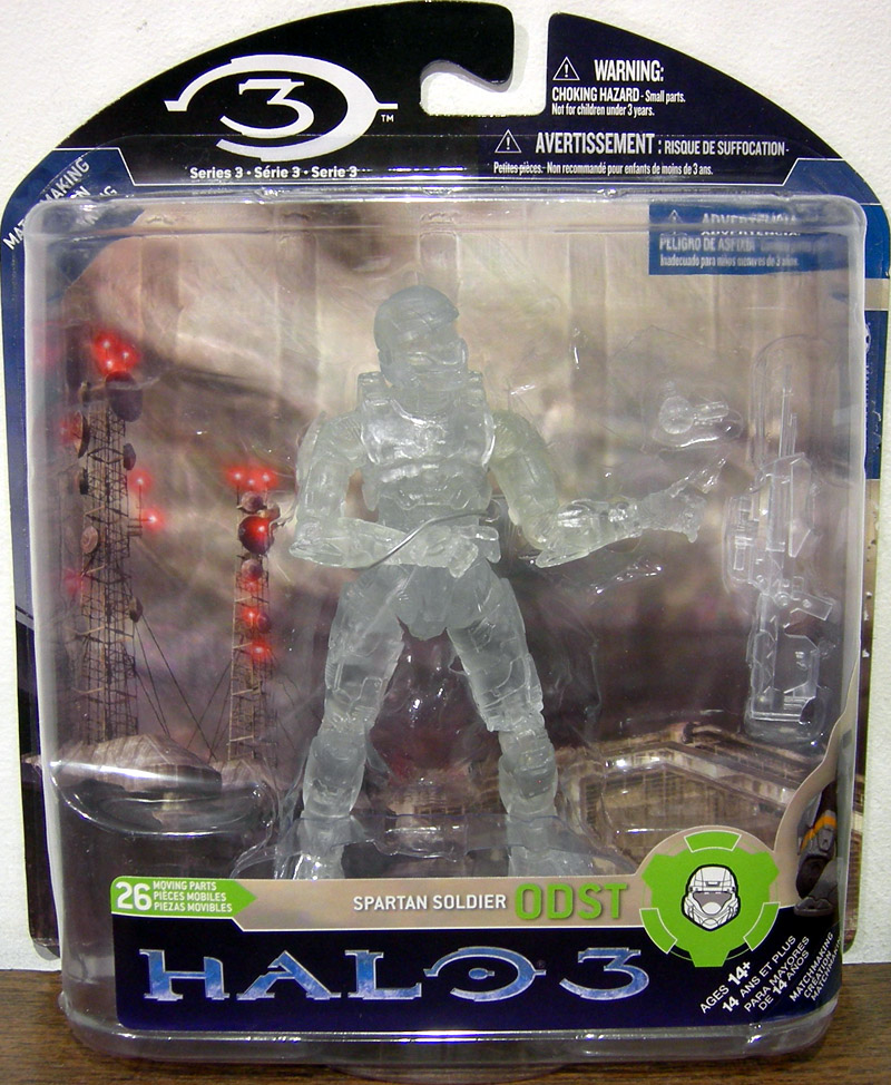 Spartan Soldier ODST (Halo 3, series 3, Active Camo, Fred Meyer)