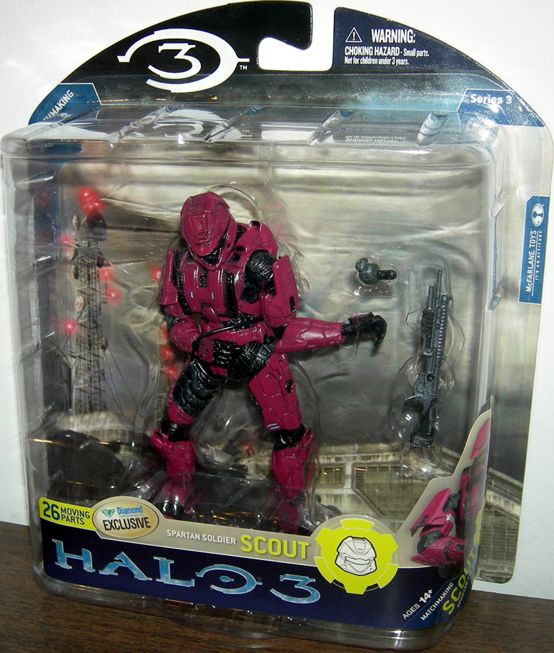 Spartan Soldier Scout (Halo 3, series 3, crimson)