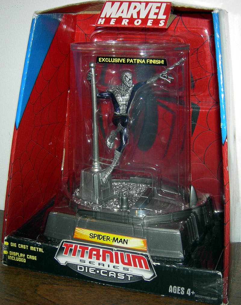 Spider-Man, Titanium Series Die-Cast with exclusive patina finish