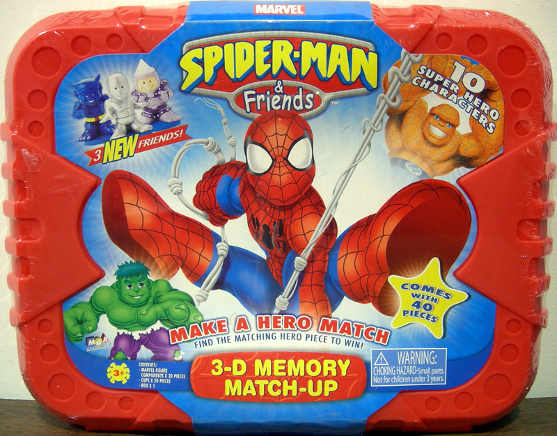 Spider-Man & Friends 3-D Memory Match-Up (with 3 new friends)