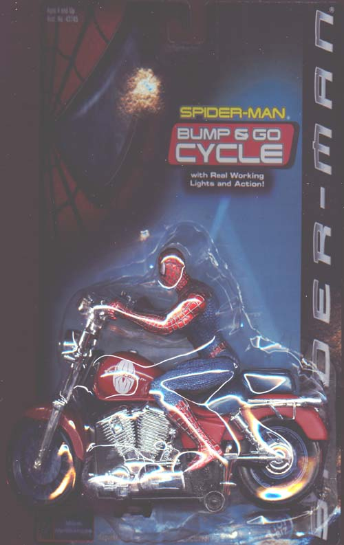 Spider-Man Bump & Go Cycle (movie, vintage)
