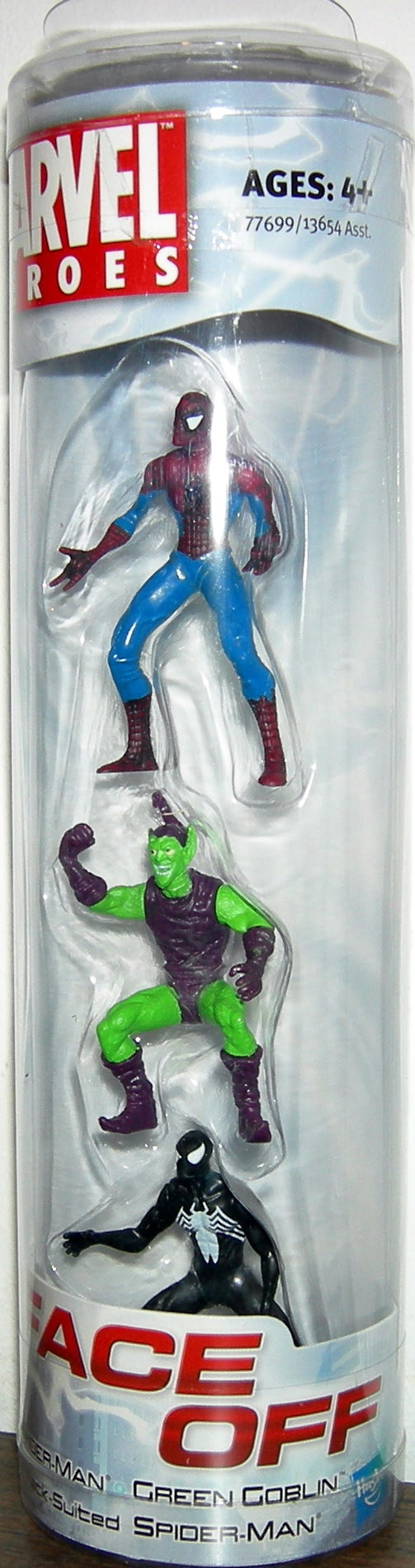 Spider-Man, Green Goblin and Black-Suited Spider-Man (Face Off)