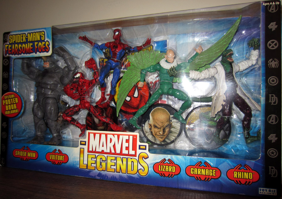 Spider Mans Fearsome Foes 5 Pack Marvel Legends Action Figures