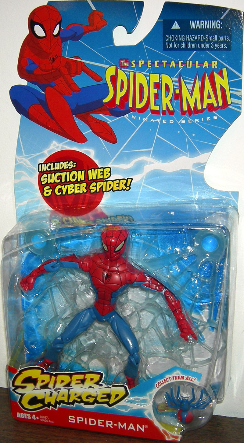 Spider Man Suction Web Cyber Spider Charged Action Figure