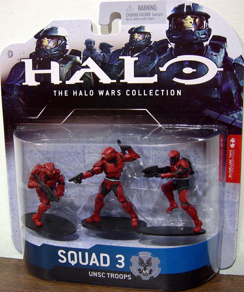 Squad 3 UNSC Troops (red)