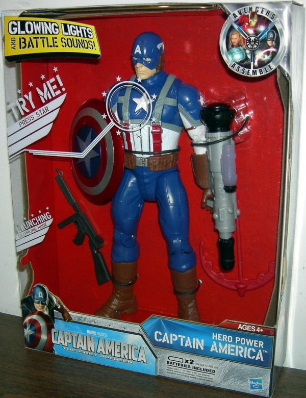 10 inch Hero Power Captain America First Avenger action figure