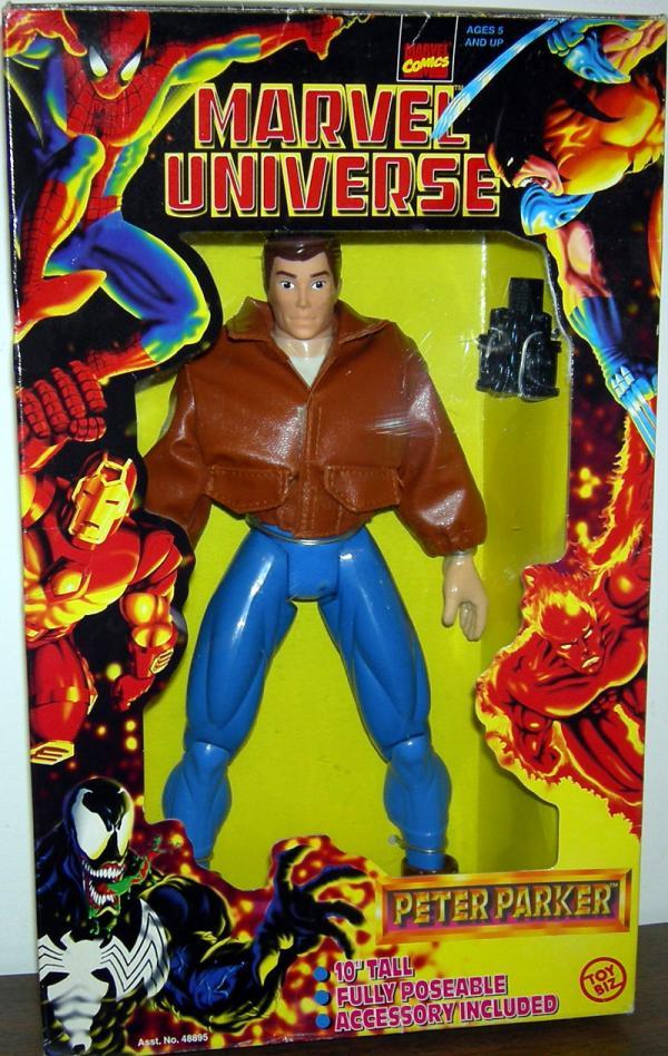 Peter Parker Figure Marvel Universe 10 Inch Tall Toy Biz