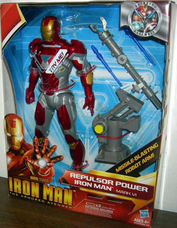 10 inch Repulsor Power Iron Man Mark VI (Armored Avenger)