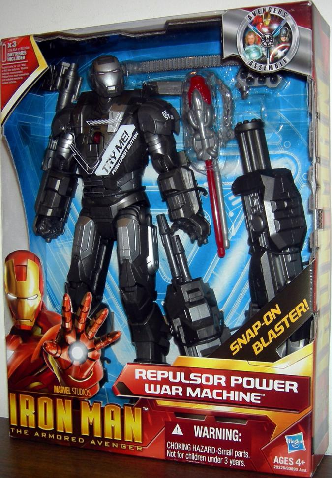 10 inch Repulsor Power War Machine Armored Avenger Iron Man action figure